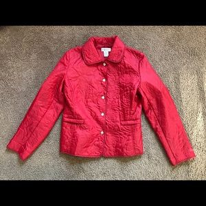 Vintage floral quilted jacket women's small